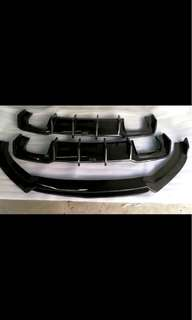 Audi A3 /S3 CF front lip and rear diffuser