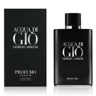 Giorgio Armani Acqua Di Gio Profumo Parfum for Men (75ml/125ml/Tester) Aqua Black