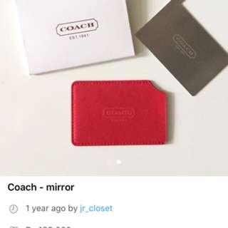 Coach portable mirror