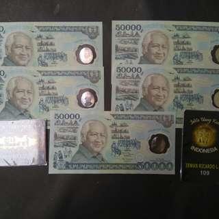 Uang kuno 50 ribu polimer