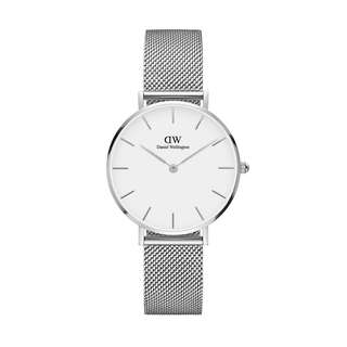 100% Original [SALES] Daniel Wellington Watch Classic Petite Collection Sterling Silver 28mm / 32mm White Face Free Delivery