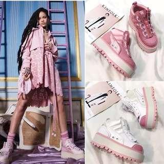 時尚女星蕾哈娜同款厚底高幫運動鞋 同款!同款!