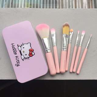 Hello Kitty Brush Kaleng Set of 7 Pink