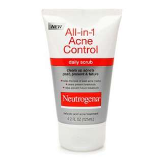 Neutrogena All in 1 Acne daily scrub