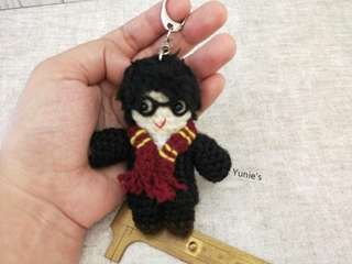 Harry potter Crochet , Harry potter amigurumi , harrry potter keychain