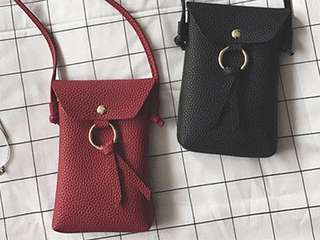 Faux Leather Mini Cross Bag
