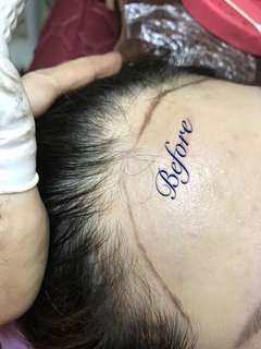 hairline tattoo