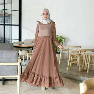IKN - 0318 - Dress Busana Muslim Wanita Nasya Maxy