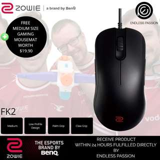 BenQ Zowie FK2 Gaming  Mice (Black/White)