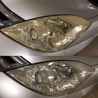 Toyota ISIS headlight restoration