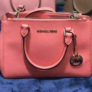 pink orange mk bag