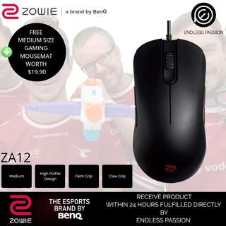 BenQ Zowie ZA12 Gaming Mice (Black/White)