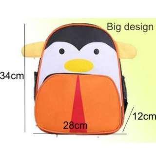 Kids Kindergarten School Animal Penguin Character Backpack Bag