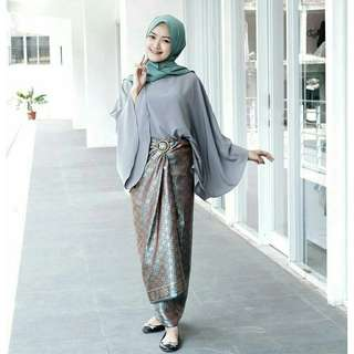 Rok lilit songket batik / india crocus