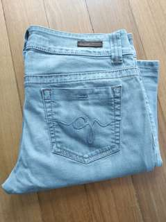 Original Women's Guess Premium Jeans size 30 bootcut grey used look