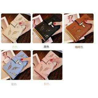 001 leaf design wallet