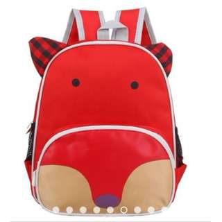 Kids Kindergarten School Animal Fox Character Backpack Bag