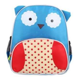 Kids Kindergarten School Animal Owl Character Backpack Bag