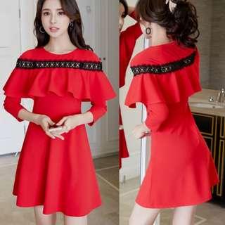 Korean Fashion Patchwork Summer Dresses For Women