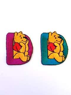 """Iron On Patch/ Applique ↪ Alphabet Pooh """"D"""" 💱 $2.00 Each Alphabet"""