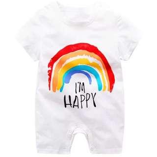🌈 BN - I'm happy Rainbow romper!