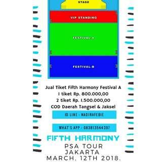 Tiket Konser Fifth Harmony Festival A
