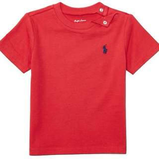 Ralph Lauren POLO 細馬短袖Tee  Color: 紅色 / 藍色 Size: 18M 現貨 美國直送