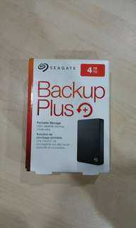 Seagate 4TB portable external hard drive backup plus HDD hard disk