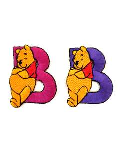 "Iron On Patch/ Applique ↪ Alphabet Pooh ""B"" 💱 $2.00 Each Alphabet"
