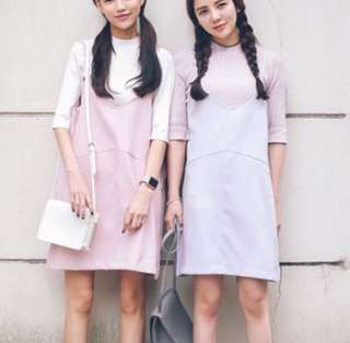 🆕 Korean Style Lilac Dress
