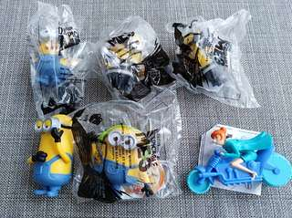 Set of 6 Happy Meal Minion toys