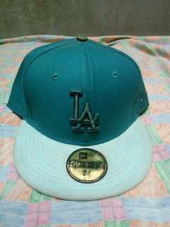 New Era Cap 59Fifty Fitted Cap Teal New York Yankees Size 7 3/8