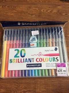 Staedtler 1.0 mm 20 colored pens