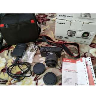 Kamera Canon EOS M10 Kit Mulus Bergaransi