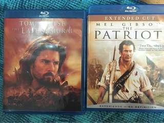 The Last Samurai, The Patriot, 2 film blu ray