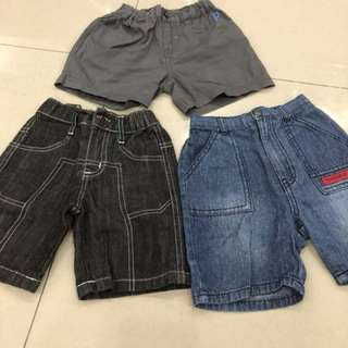3pcs Boy Short Pants (2-3years)