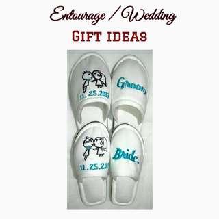 Wedding indoor slippers
