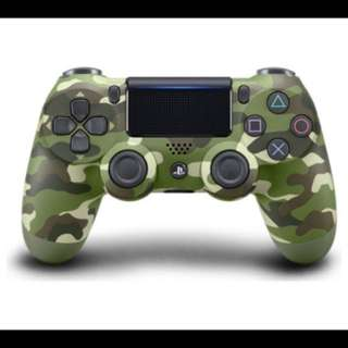(Used) PS4 DualShock wireless controller (Green Camo)
