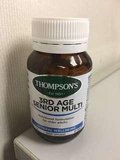 新西蘭 Thompsons 中老年綜合維生素片 60片
