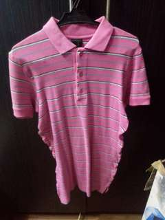 Folded and Hung Polo Shirt Pink