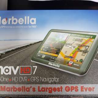 Marbella uNav HD7 2 in 1 GPS/DVR