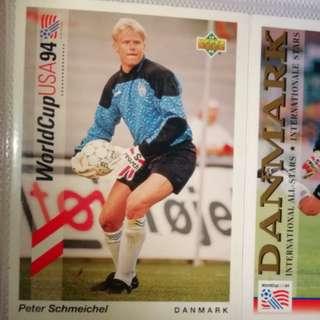 Peter schmeichel upper deck 94 card