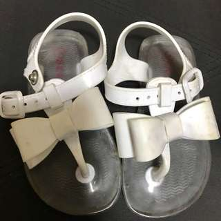 Seed jelly sandals