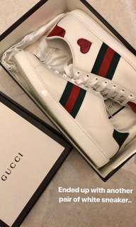 GUCCI Heart New Ace Sneakers 38.5