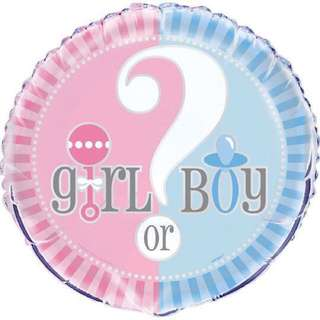 Gender Reveal - Girl or Boy Balloons