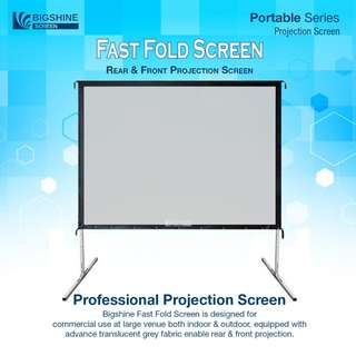 "[BIGSHINE] 150"" 4:3 Fast Fold Portable Projector Screen"