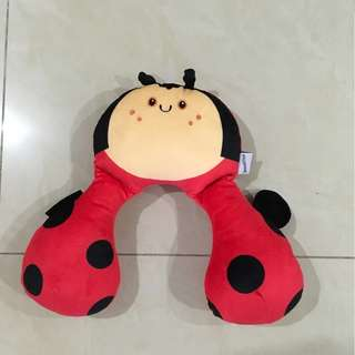 Ladybug U shaped kid neck rest pillow