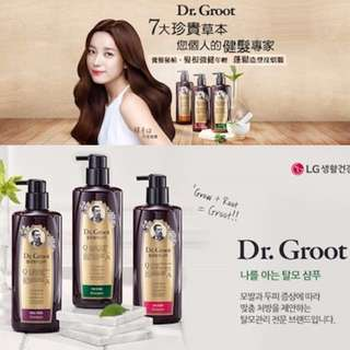 Great Sale!! Clearance!! 100% Authentic Directly Purchased From Korea!! Only Used Once With 99% Left In Volume!! Highly Recommended By Taiwan Beauty Show Queen/女人我最大!! Koreans Most Loved Dr Groot Anti Hair Loss Herbal Shampoo For Weak And Thinning Hair