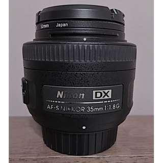 Nikon AF-S DX NIKKOR 35MM F/1.8G Prime Lens for Nikon DX Camera