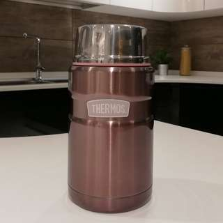 Stainless King Food Jar with Spoon - SK-3021(P)